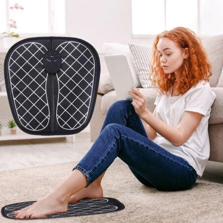 EMS elektromos talpmasszírozó szőnyeg, talpmasszázs párna, négyzet mintás