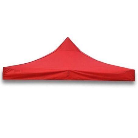 Értékcsökkent - Tetőponyva sörsátorhoz, pavilonhoz, 3x3m-es méretben, piros