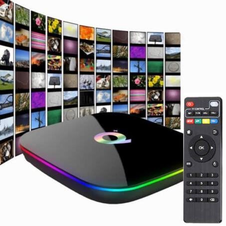 Q Plus SmArt TV BOX TV okosító távirányítóval, Android 9.0, 8K, UHD 4Gb RAM, 64Gb ROM