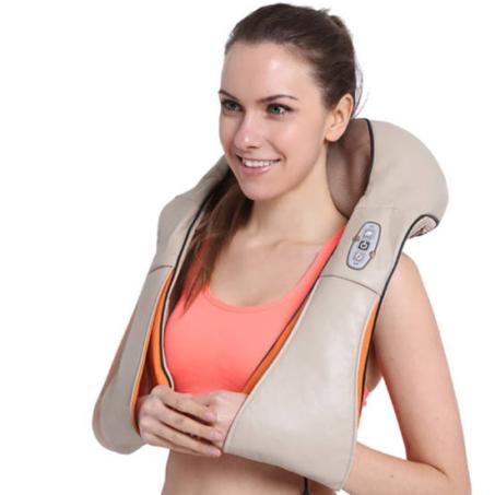Shiatsu elektromos nyak- és testmasszírozó kapcsolható infravörös fűtéssel