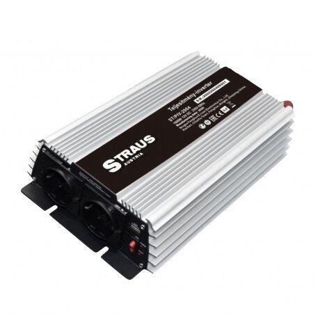 Straus autós feszültségátalakító inverter, 12V-ról 230V, 2000W