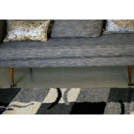 Shaggy szőnyeg, szürke kockás, Olivia, 120x170cm
