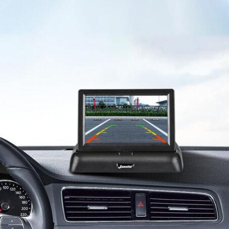 """Univerzális autós tolatókamera lehajtható 4.3""""-os monitorral"""