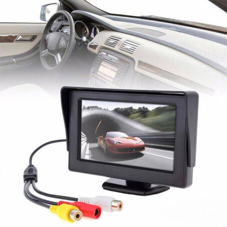 """Típusfüggetlen univerzális 4.3"""" TFT LCD monitor tolatókamerához"""