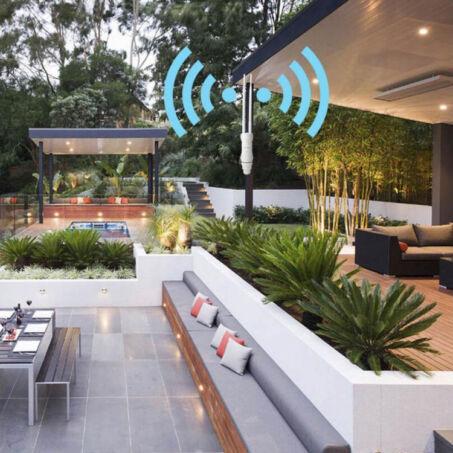 Nagy teljesítményű kétsávos kültéri WiFi repeater, jelerősítő