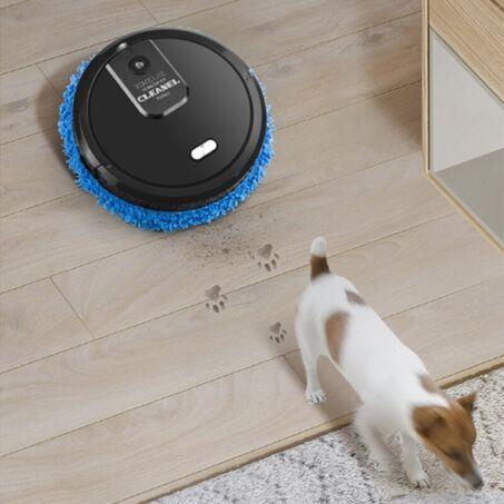 Intelligens önjáró automata padlótisztító mop és aroma diffúzor, fekete