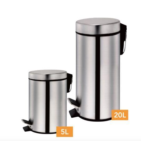 Zurrichberg 2 részes rozsdamentes acél szemetes szett, 5+20 literes
