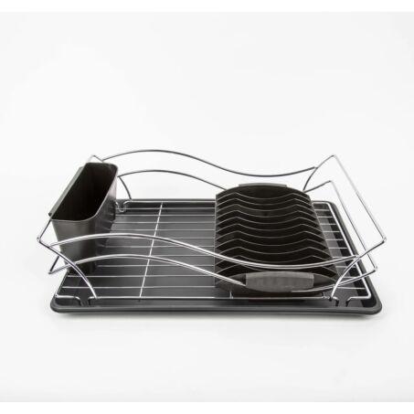 Értékcsökkent - Zurrichberg krómozott konyhai csepegtető, edényszárító kivehető tálcával, ZBP-7111