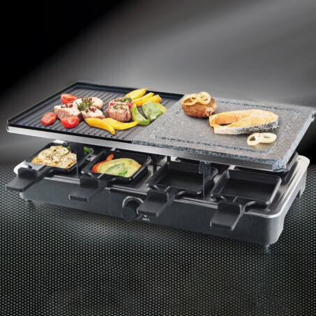 Zurrichberg 8 személyes raclette sütő, grillező gránitkő sütőlappal