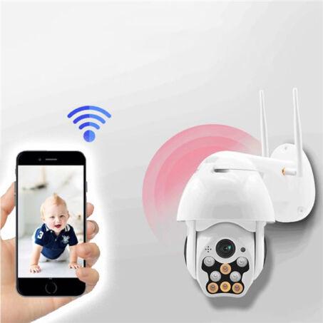 Kültéri IP dóm PTZ biztonsági kamera, WiFi kapcsolattal