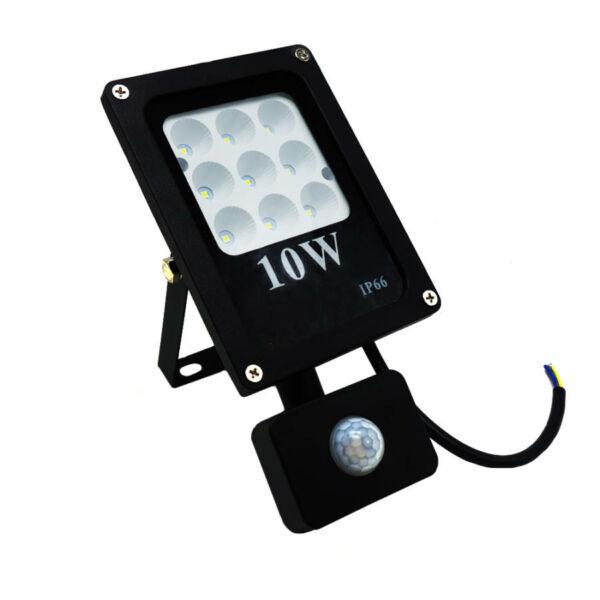 SMD LED reflektor mozgásérzékelővel, 10W
