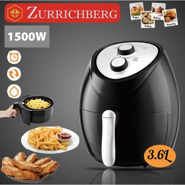 Zürrichberg olaj nélküli forró levegős fritőz 1500W, 3,6 l kapacitással
