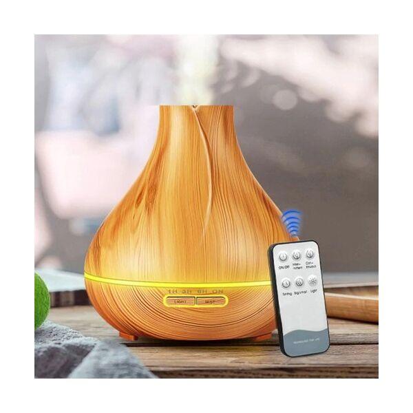 Fa hatású távirányítós aromaterápiás párologtató, ultrahangos párásító, illatosító