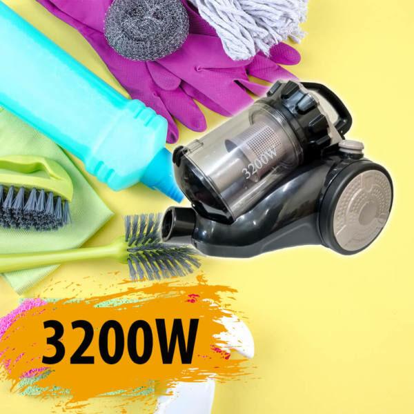Eco multi-cyclon porzsák nélküli porszívó, 3200W