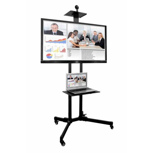 Prezentációs mobil állvány projektorhoz, laptophoz