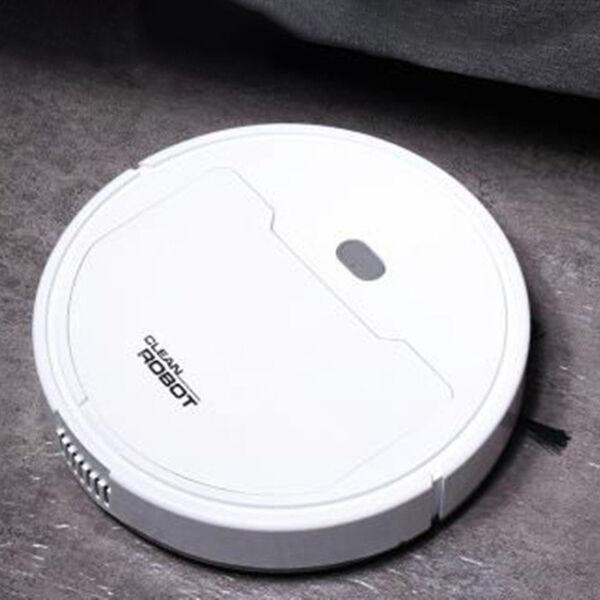 Smart robotporszívó, padlótisztító készülék kiegészítőkkel, fehér